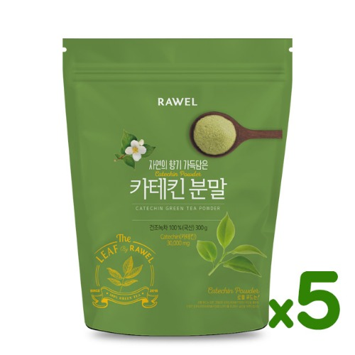 로엘 녹차카테킨 분말 5개 Rawel Catechin Green Tea Powder | 300g