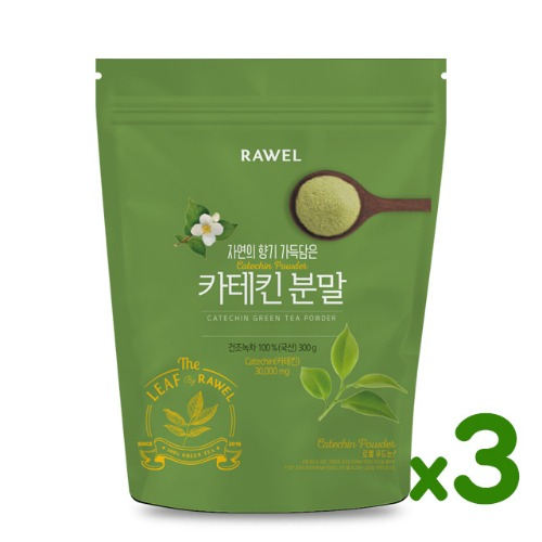 로엘 녹차카테킨 분말 3개 Rawel Catechin Green Tea Powder | 300g