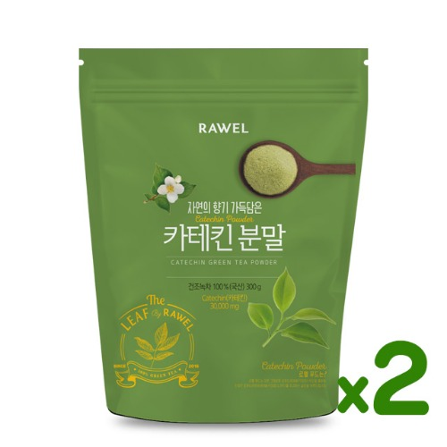 로엘 녹차카테킨 분말 2개 Rawel Catechin Green Tea Powder | 300g