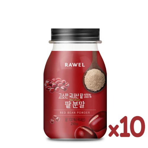 로엘 팥 10통Rawel Red Bean Powder팥 100%(국내산) | 210g
