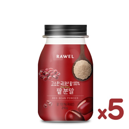 로엘 팥 5통Rawel Red Bean Powder팥 100%(국내산) | 210g