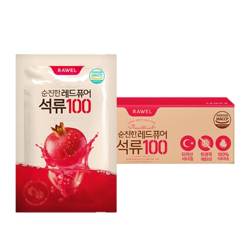로엘 순진한 레드 퓨어 석류100(80ml x 100포) | RAWEL Red Pure Pomegranate100 (80ml x 100 Pack)