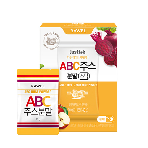 로엘 ABC주스분말 스틱(10g x 14포) | RAWEL Apple Beet Carrot Juice Powder(10g x 14stick)